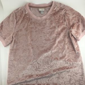 Tops - a new day patterned velour tee